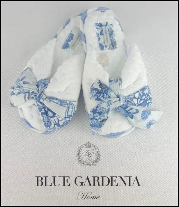 Chinelo blue bird Blue Gardênia
