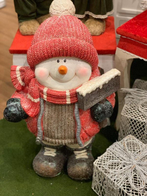 Boneco de neve c/casaco