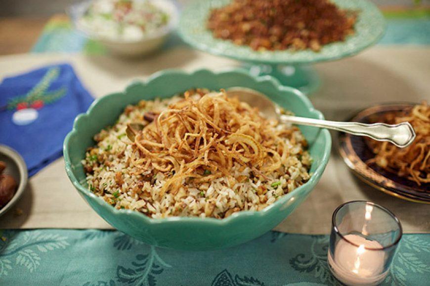 Natal com arroz com figo seco e especiarias